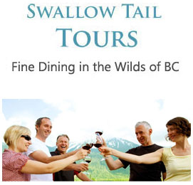 Swallow Tail Tours  Fine Dining in the Wilds of BC