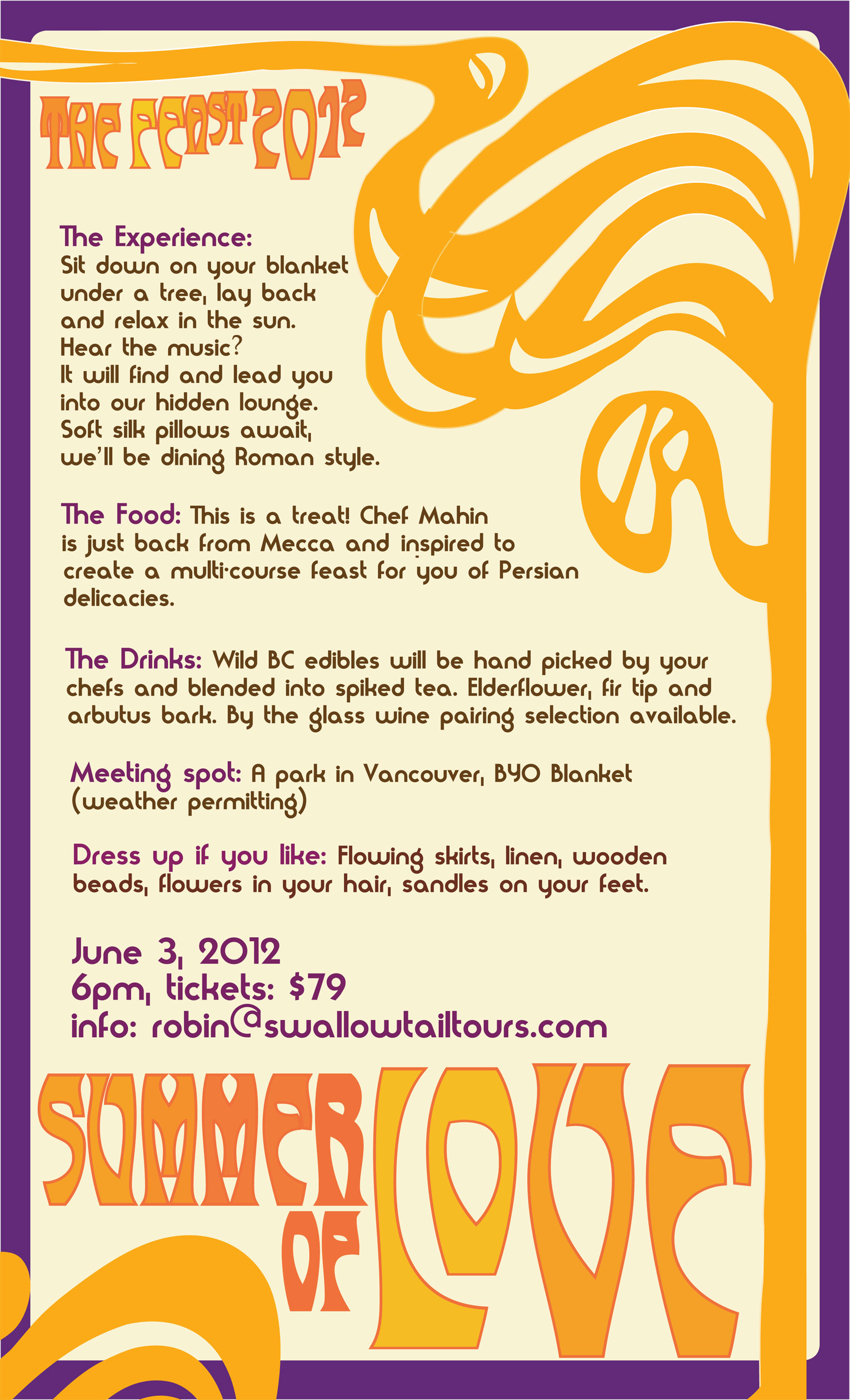 Summer of Love - Pop-up Restaurant Details